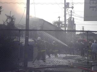 木工センターの火災